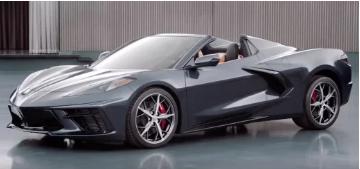 2020 Corvette敞篷车预告片似乎展示新的冷却通风口