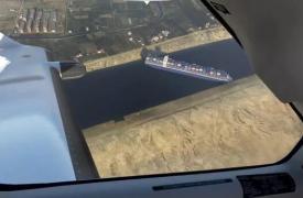 在微软FlightSimulator中船仍卡在苏伊士运河中